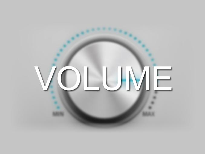 Volume final / padrão na masterização